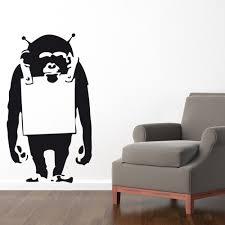 banksy monkey wall sticker wall chimp uk wall chimp banksy monkey wall sticker