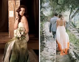 ombre wedding dress dip dye ombre wedding dresses