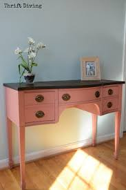 Chalk Paint Desk by Before And After Makeover Of A Vintage Vanity Thrift Diving Blog