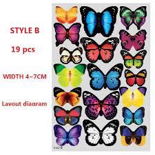 amaonm 19 pcs removable diy pvc 3d colorful butterfly wall amaonm 19 pcs removable diy pvc 3d colorful butterfly wall sticker murals wall decals wall