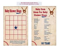 baseball bingo cards printable baseball baby bingo game card