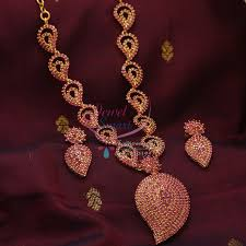 ethnic necklace design images Nl0842 mango gold design full ruby semi precious traditional jpg