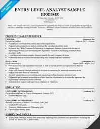 entry level analyst resume objective