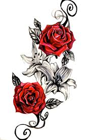 rose tattoo png transparent images png all