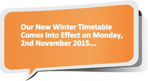 ie announce new winter timetable commencing monday 2nd november 2015
