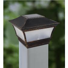 Solar Light Caps For Deck Posts by New 2015 Retro Post Cap Light Solar Pillar Wall Lamp Deck Fence