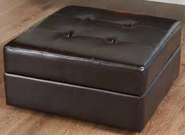 leather ottoman with storage and tray u2013 home improvement 2017