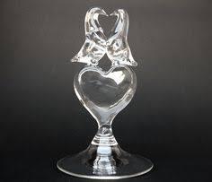 glass swan wedding cake topper by eagleglasscompany on etsy