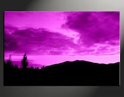 Landscape Canvas Prints by 1 Piece Purple Sky Art Landscape Canvas Wall Decor