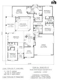 nice 4 bedroom house plans 2000 square feet and custom floor