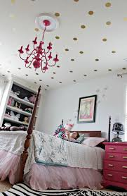 8 fun and easy ways to use polka dot wall decals view in gallery gold polka dot decals used on the ceiling