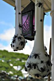 Decorative Spiders 20 Best Halloween Diy Outdoor Decoration Ideas Creepy Halloween