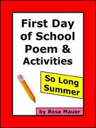 first day of poem and activities vocabulary worksheets