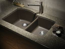 Kitchen  Dining Black Granite Kitchen Sinks Composite Granite - Black granite kitchen sinks