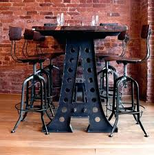 industrial style pub table industrial style bar table attractive industrial style bar table