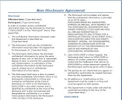 non disclosure agreement template free layout u0026 format