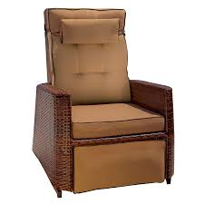 shop best selling home decor brown wicker recliner at lowes com