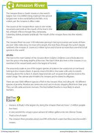 this year 6 geography worksheet includes interesting facts about