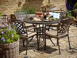 Metal Garden Furniture Round Set Metal Garden Furniture For Inviting Garden