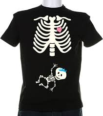 Halloween Skeleton Pregnancy Shirts Halloween Costume Tshirt Boy Or Custom Pregnancy Shirt