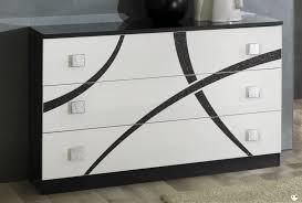 commode chambre blanc laqué amazonie laque blanc et noir ensemble chambre a coucher lignemeuble com