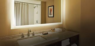 Lighted Mirrors For Bathroom Mirror Design Ideas Yellow Golden Bathroom Lighted Mirror Seura
