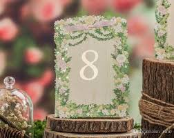 Laser Cut Table Numbers Place Cards For Wedding Laser Cut Flower Wedding Table Number