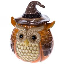 stoneware harvest owl cookie jar harvest cracker barrel old
