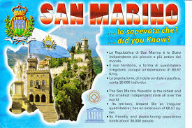 San Marino Italy Map by Gem U0027s World Postcards July 2014