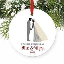 groom ornament as mr mrs