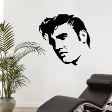 compare prices on stencil wall mural online shopping buy low elvis presley large bedroom wall mural art sticker stencil decal matt vinyl boys room decor