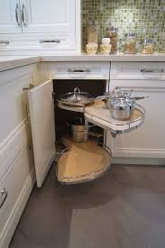kitchen corner display cabinet making the most of a small kitchen corner space le mans trays