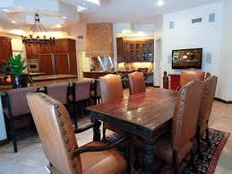 Brown Leather Dining Chairs With Nailheads Furniture Eclectic Kitchen Design With Rustic Leather Nailhead