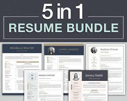 Downloadable Resume Templates For Word Resume Template Etsy