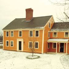 the acton house colonial house and black shutters