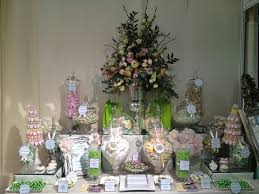 Flower Table L Wedding Buffet In Green Buffets L Sweetie Tables L