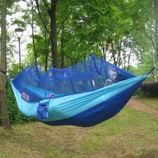 portable tree hanging hammock bed tent high strength parachute