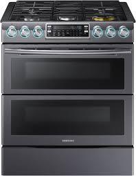 Kitchen Stove Knobs Samsung Nx58k9850sg 30 Inch Flex Duo Slide In Gas Range With Dual