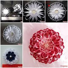 satin ribbon flowers diy narrow satin ribbon flower