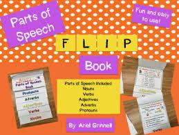 parts of speech flip book nouns verbs adjectives adverbs and
