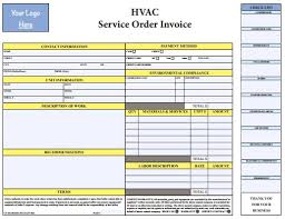 Air Conditioning Invoice Template by Pdf Hvac Invoice Template Free Hvac Invoice Templates
