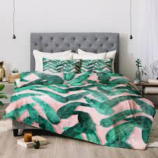 dash and ash banana leaf comforter deny designs