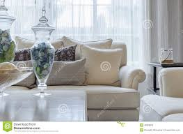 Earth Tone Colors For Living Room Luxury Earth Tone Color Sofa In Living Room Stock Photo Image