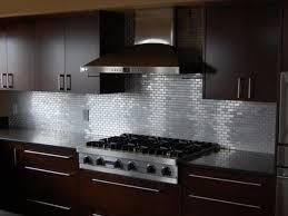 steel kitchen backsplash best countertop to go with stainless steel subway tile backsplash