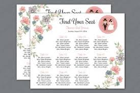 wedding seat chart template wedding seating chart poster stationery templates creative market