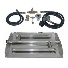 Fire Pit Burner Kits by Dreffco 17 Inch Stainless Steel Triple Xtra Flame Burner Kit Lp