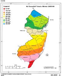 Snowfall Totals Map Light In The Storm Nj Annual And Average Snowfall Maps