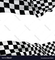 Two Racing Flags Logo Background Checkered Flag Royalty Free Vector Image