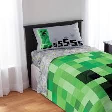 Minecraft Bathroom Accessories Minecraft Bedding Sheet Set Walmart Com