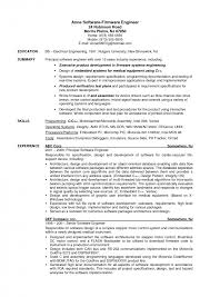Summary Of Skills Resume Sample Resume Examples John H Doe Objective Professional Profile